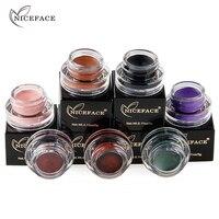 NICEFACE Eyeshadow Pigment Gel Beauty Makeup Shimmer Cream Cosmetics wodoodporny, długi, trwały czarny zielony cień do powiek w proszku
