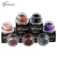NICEFACE Eyeshadow Pigment Gel Beauty Makeup Shimmer Cream Cosmetics Waterproof Long Lasting Black Green Eye Shadow Powder Cream