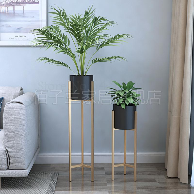 Flower-Stand Floor Living-Room Creative Nordic Golden Home Iron Green Modern 499 Dill