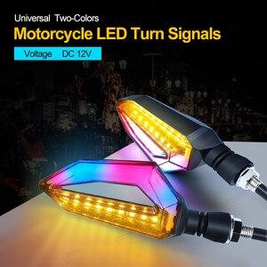 Image 2 - Para honda vfr 800 z50 sombra 600 universal motocicleta led turn signal luz motorbikes luzes diurnas indicador blinker