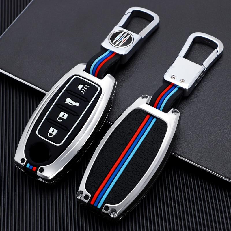 Чехол для ключа из цинкового сплава, чехол для Nissan Altima Sentra Leaf Versa Murano Pathfinder Rogue Titan GT-R Leaf 3 4 Button