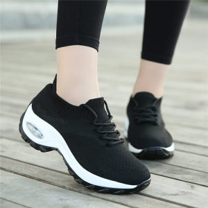 Image 4 - MWY Wedges Shoes For Women Yellow Sneakers Comfort Ladies Trainers Women Casual Shoes Platform Shoes Plus Size Chaussures Femme