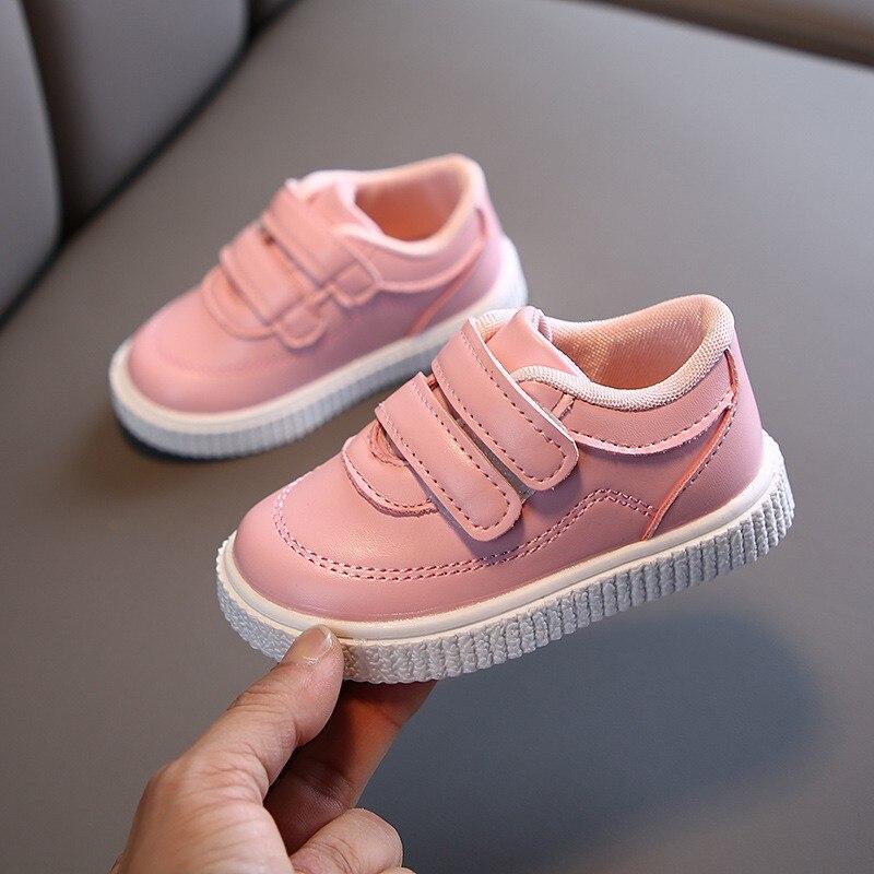 flexivel para meninos meninas sola de couro branco preto rosa 02
