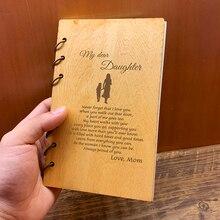 Personalizzata Personalizzato In Legno Notebook Casalingo per Planner journal Diario Di Compleanno Di Natale Regali di Anniversario di Prendere Appunti Sketchbook
