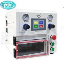 הכי חדש TBK 108P LCD OCA למינציה מכונת למינציה ואקום מכונת עבור מסך מעוקל וישר מסך וכרית 220v/110V