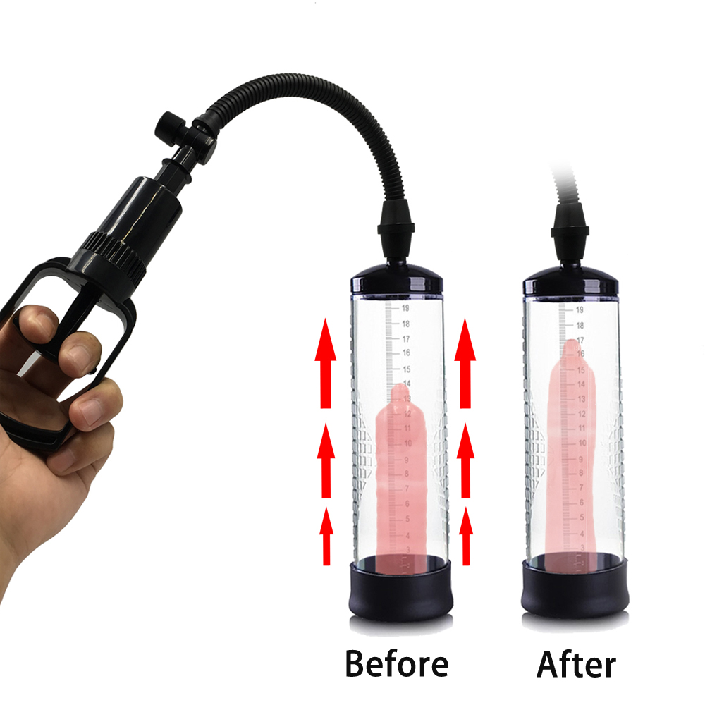 Male Penis Vacuum Pump For Penis Enlargement Increase Penis Extender Sex Pump Enlarge Cock Dick Enhancer Adult Sex Toys For Men