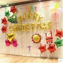 Ballons à Air avec lettres en aluminium de 16 pouces, décorations de joyeux noël, fournitures de fête, Alphabet