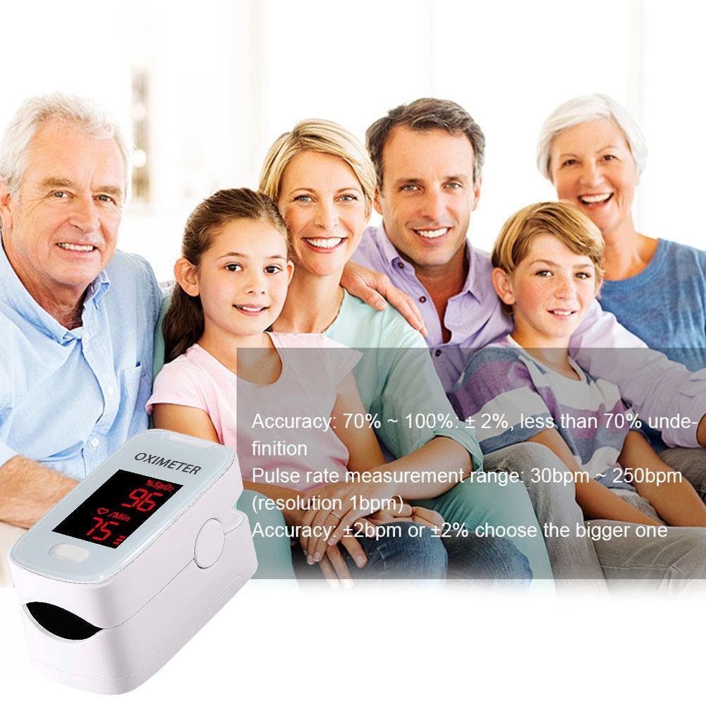 oxímetro de pulso portátil dedo oxigênio monitor