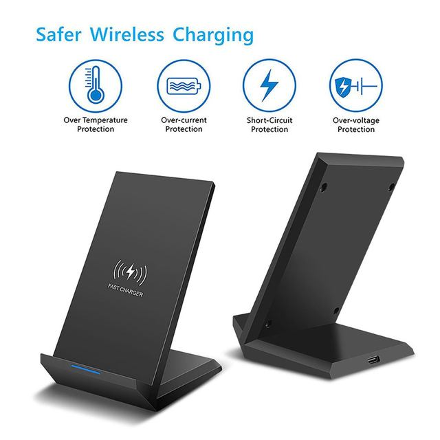 35W Qi Wireless Charger Stand For iPhone X XS MAX XR 11 Pro 8 Samsungs S20 S10 S9 Fast Charging Dock Station Phone Charger 3