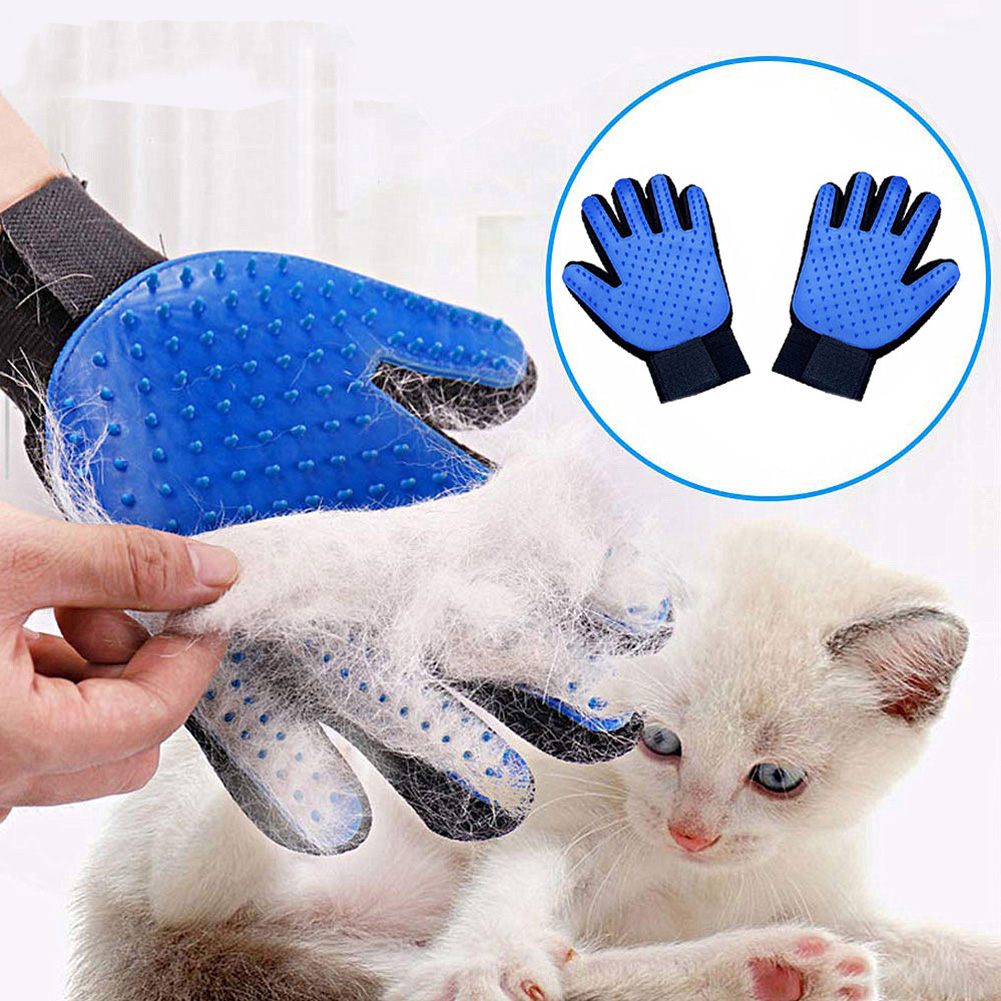 Pet Grooming Gloves for Cats Dogs Pet Brush Glove for Cat Dog Hair Remover Brush Dog Deshedding Cleaning Combs Massage Gloves
