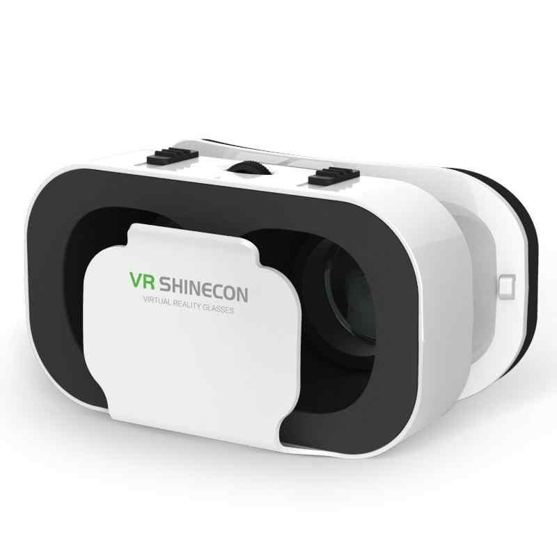 VR Shinecon G05A 3D VR Kacamata Headset Vr Virtual Reality Helm untuk 4.7-6.0 Inci Android IOS Ponsel Pintar 3D Kotak Kacamata