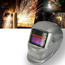 2018 neue Pro Solar Schweißer Maske Auto-Verdunkelung Schweiß Helm Transparent silber