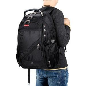 Image 1 - 2020 Hot Sale Mens Travel Bag Man Swiss Backpack Polyester Bags Waterproof Anti Theft Backpack Laptop Backpacks Men Brand bags