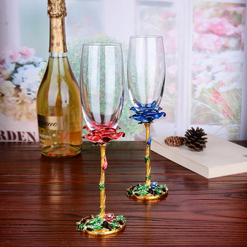 2 pcs / set High Quality wine glass Crystal Champagne Glasses set   goblet Bubble Wine glass wedding gifts drinkware