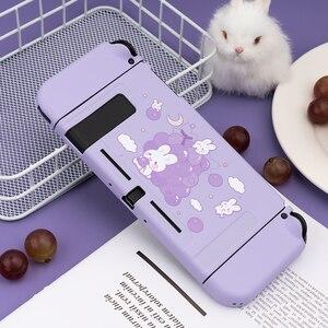 Geekshare Nintendo переключатель виноградный кролик милый фиолетовый Сказочный Лига Мягкий ТПУ чехол задняя крышка для жениха переключатель
