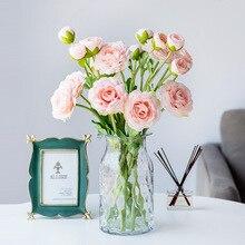 Long 50cm diameter 10CM Pretty Charming Artificial Flowers PE Foam Rose Bride Bouquet Home Wedding Decor Scrapbooking