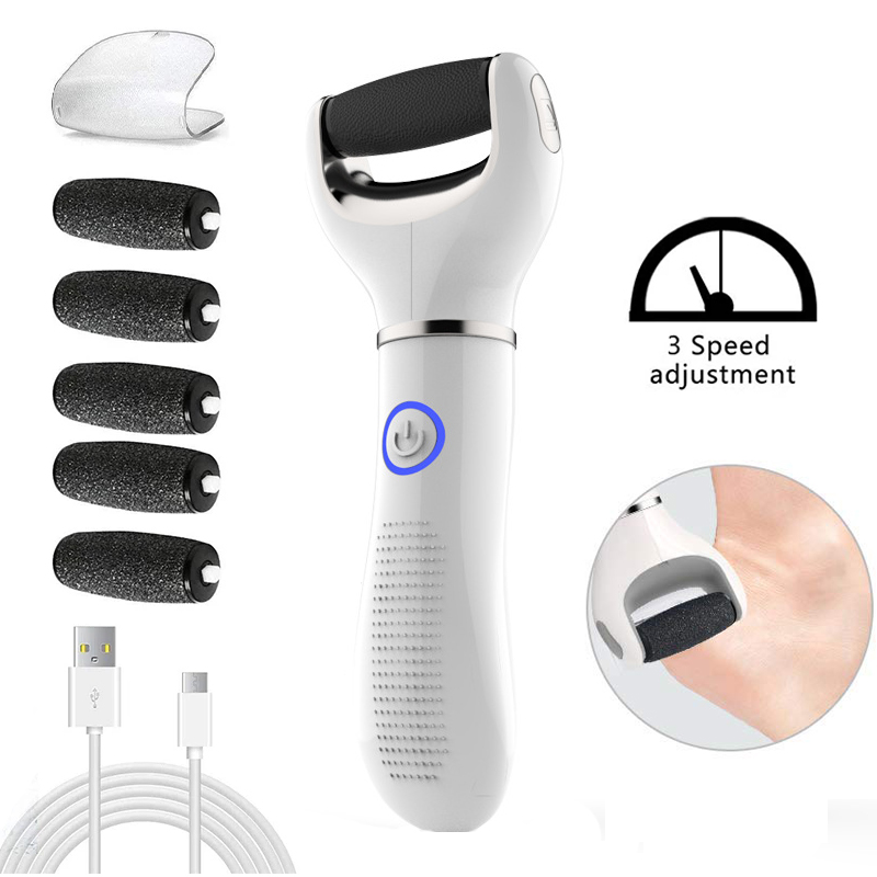 Electric Foot File Pedicure Tools Three-Speed Adjustment USB Pedicure Machine Dead Skin Callus Remover Portable Foot Care Tool