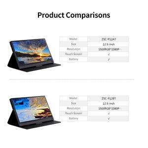 Image 5 - Przenośny Monitor 12.5 Monitor LED HD 1080P ekran rozszerzający do przełącznika/PS4/PC/laptopa (z ekranem dotykowym/wtyczką amerykańską baterii)
