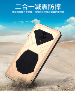 Image 3 - IMATCH Aluminum Metal Silicone Shockproof Case Cover For Xiaomi Redmi Note 9S Pro Max / Note 8 Pro Dirt Shock Proof Cover Case