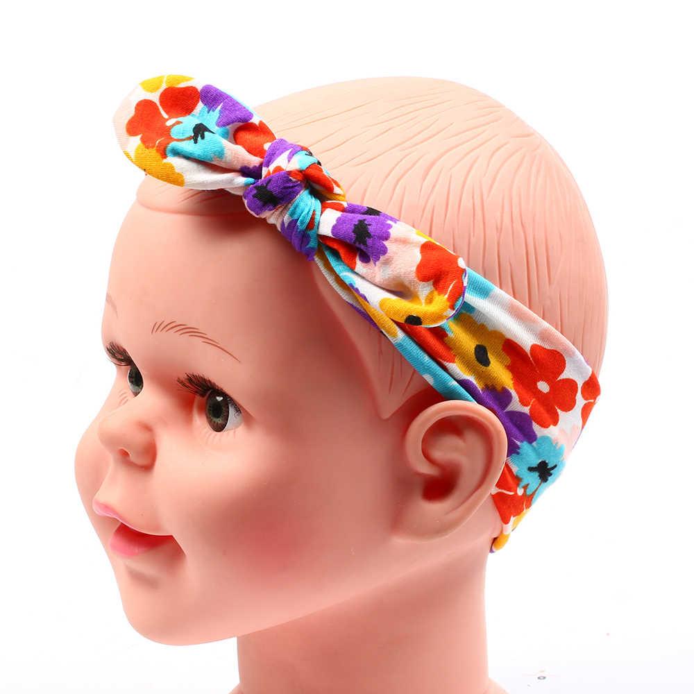 תינוקת אביזרי שיער בד להקת קשת יילוד כובעי ילדי גומייה לשיער הדפסת פעוטות פרחוני flo'wer