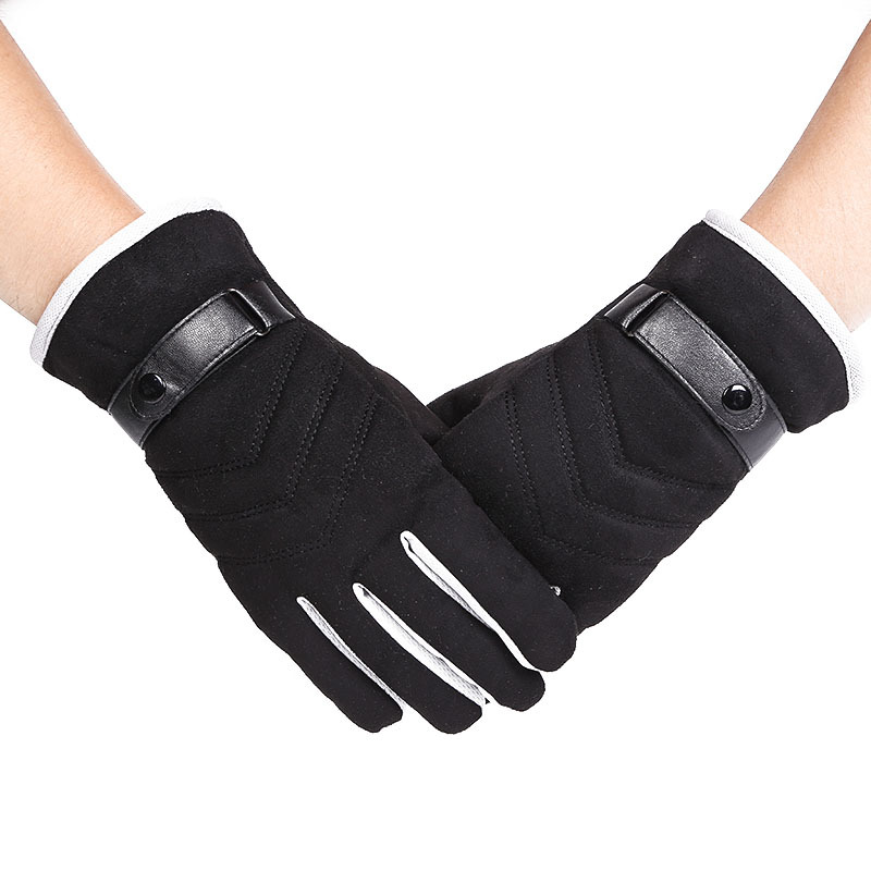 New Suede Arrow Gloves For Autumn And Winter Warmth Protection For Men Riding Outdoors