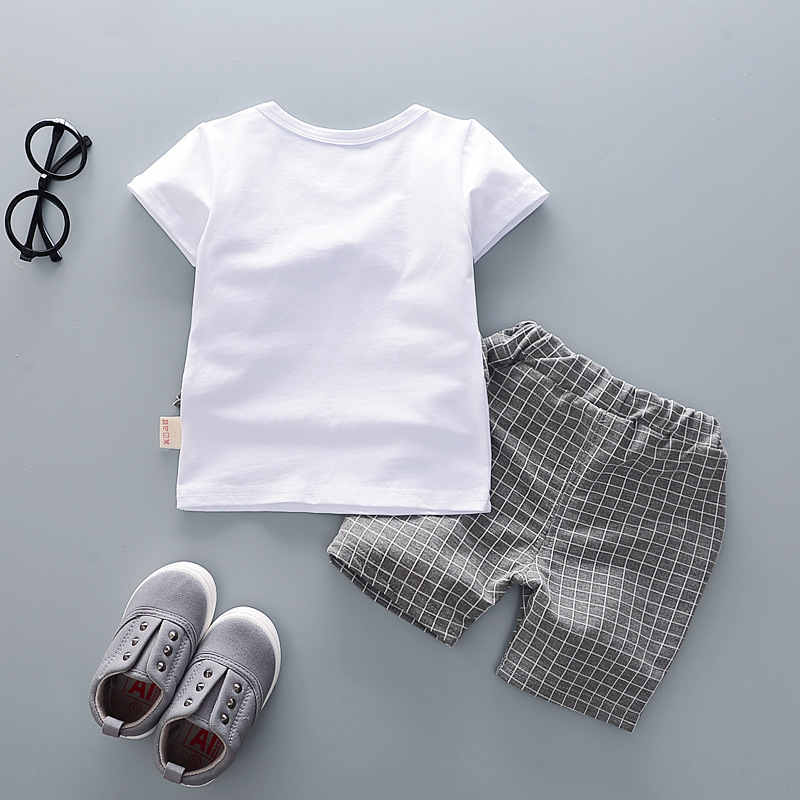 Cotton Boys Clothes Sets Suit For Boy Summer Shirts Shorts 2 pieces Suit Children Set Clothing Kids New baby Toddler 1 year Wear 4