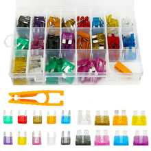 220Pcs /set Assorted Car Fuses Auto Truck SUV Fuses Mini Standard Blade Fuse Kits with Clip 2 35A Auto Replacement Parts