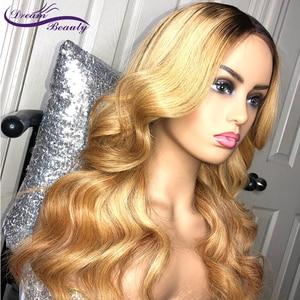 Image 5 - Blonde Ombre 27 Farbe tiefe teil 13x6 Vordere spitze perücke Remy Haar Brasilianische Körper Welle Menschliches Haar Perücken mit Baby Haar Traum Schönheit