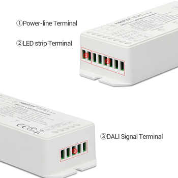 led strip dimmer MiBOXER DALI 5 IN 1 LED strip Controller DL5 15A single color/CCT/RGB/RGBW/RGB+CCT,DC12V-24V