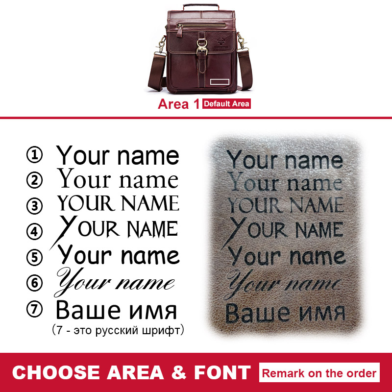 Image 2 - famous brand Genuine Leather Shoulder Bag Men Messenger Bags  Handbag Busines Bolsas Travel Sling Crossbody for Male ipad  ToteCrossbody Bags