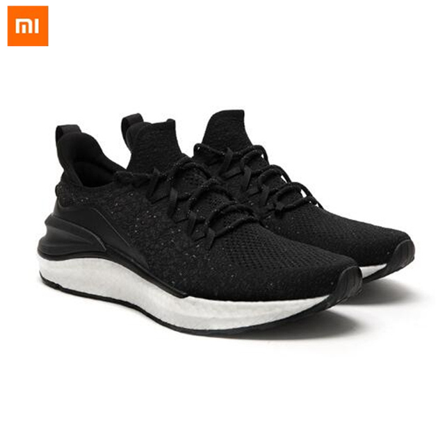 New Xiaomi Mijia Sneaker 4 Mi Running Shoes Mens Light Weight Breathable Insole Fishbone Lock 4D Fly Weaving Upper TUP Sole