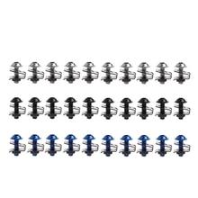 10x 6mm Motorcycle Fairing Bolt Nut Spire Speed Fastener Clip Screw For Yamaha Rack Plating