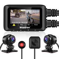 "MT1 Motorcycle Dash Cam 2.7"" LCD Screen 1080P Motorbike DVR Recording Camera Dual Lens Front Rear Camera WiFi GPS G Sens Dashcam"