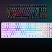IKBC 87 клавиатура RGB Вишневый коричневый красный скорость механическая клавиатура подсветка RGB 108 клавиш