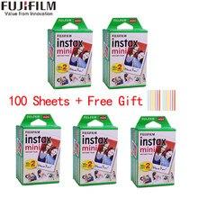 Fujifilm-Película de borde blanco instax mini para cámara instantánea, papel fotográfico ancho de 3 pulgadas, compatible con mini 8 7s 25 50s 90 11 9, caja de 10 a 200 hojas