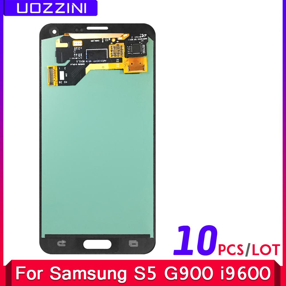 10 Pcs/Lot Super AMOLED Lcds For Samsung Galaxy S5 SM-G900 G900 i9600 G900R G900F G900 LCD Display Touch Screen Assembly