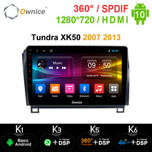 Ownice Android 10,0 8 Core Auto DVD GPS Für T Toyota Tundra XK50 2007 2013 Radio 4G LTE DSP 360Panorama Optische SPDIF navigation