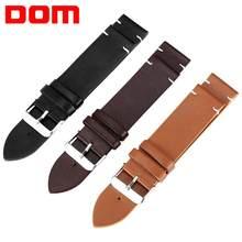 Dom pulseira dom, pulseira marrom, preta, amarela, 18mm, 20mm, 22mm, pulseiras de relógio masculino de alta qualidade substituir correia de relógio