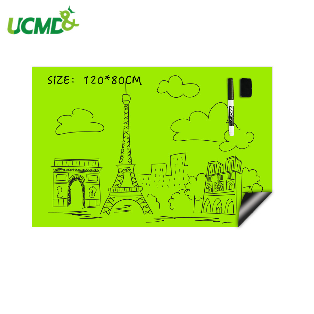 Waterproof Whiteboard Green Color Hold Magnet For Kids Room Decor Wall Decal Sticker DIY Drawing Graffiti Writing Learning Board