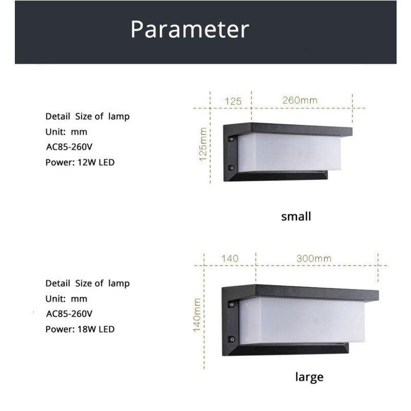 porta da frente iluminacao arandela ac85 260v luminaria 04