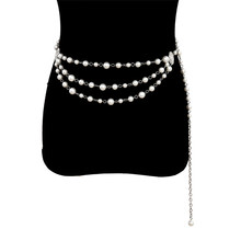 Sexy Multi-layered Waist Chain for Women Retro Pearl Tassel Waist Belt Chain Female Jewelry стоимость