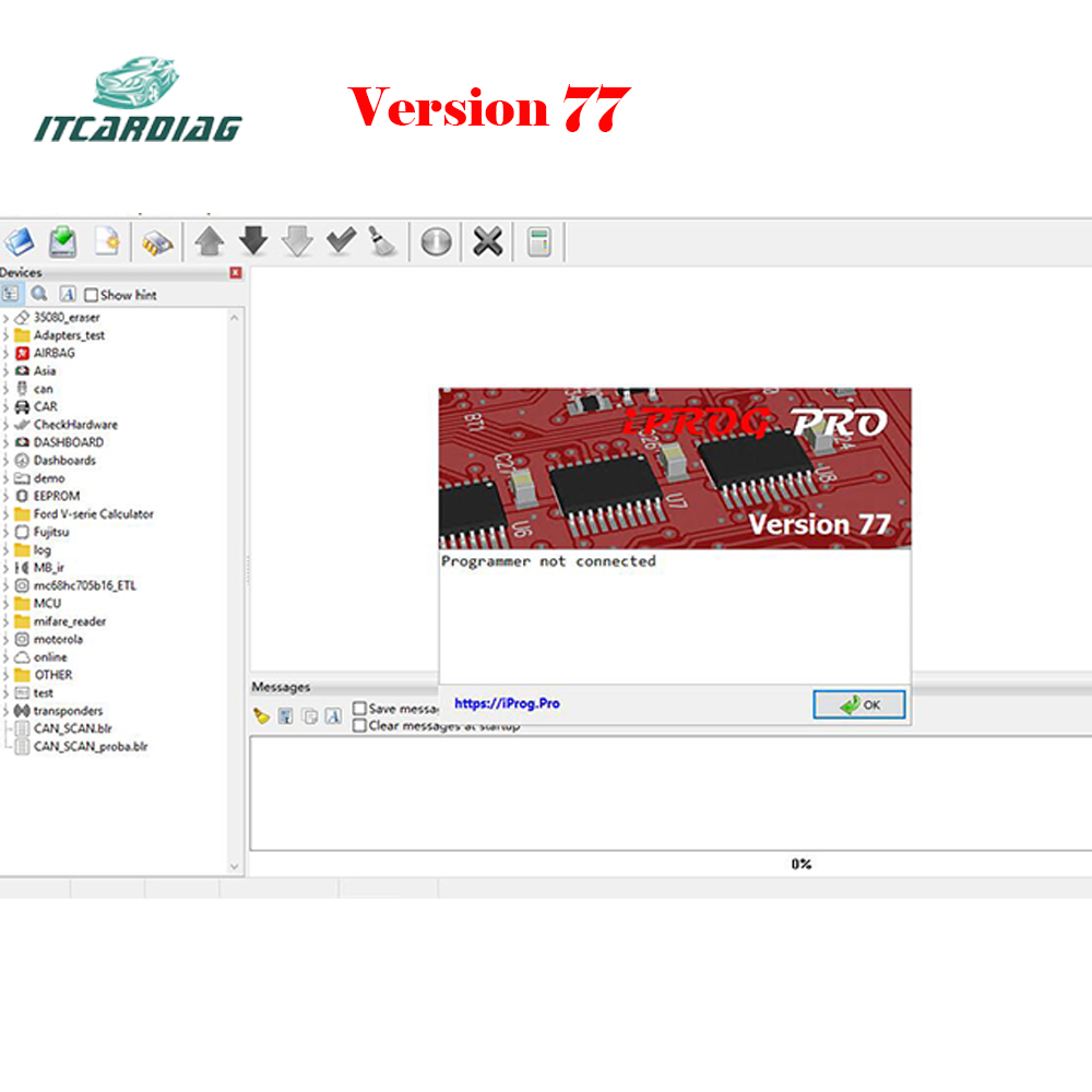 Version 77 IPROG+ IProg Pro Programmer Software Link Supports IMMO/Mileage Correction/Airbag Reset  SN001