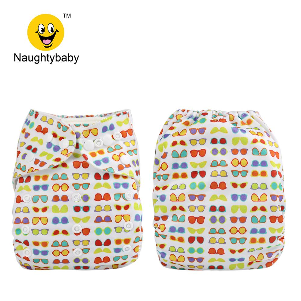2020 Naughty Baby Adjustable Washable Reusable Cover baby cloth diaper nappies 200 without insert 100 Color For Choose