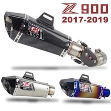 Z900 Slip-on Exhuast Middle Link Pipe Yoshimura Escape Muffler DB Killer Carbon Fiber Heat Shield for Kawasaki Z900 2017-2019