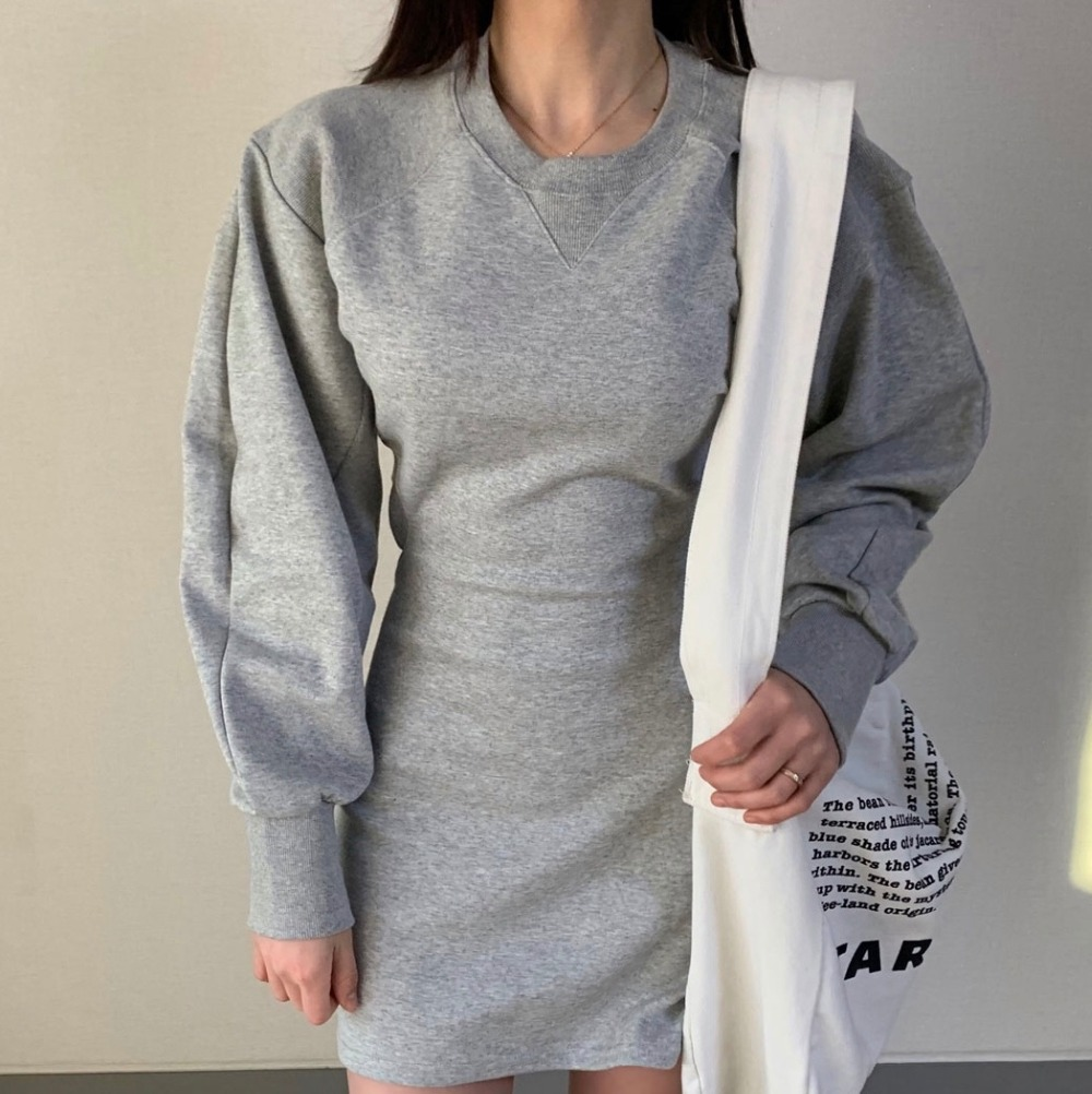 H43bfe3c82ef4456a8cafc571712d62a7S - Autumn O-Neck Long Sleeves Solid Backless Minimalist Mini Dress