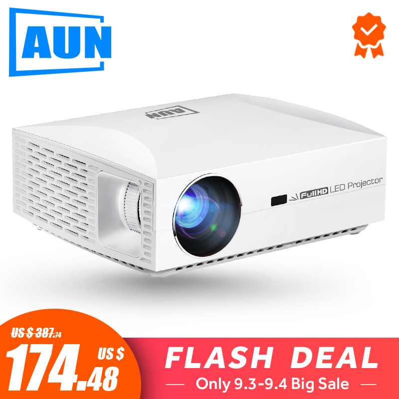 AUN Full HD Projector F30UP, 1920x1080P. Android (2G+16G) 5G WIFI, LED MINI Projector for Home Theater, Support 4K video Beamer Проектор