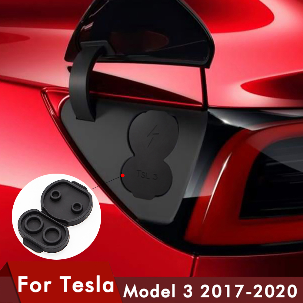 For Tesla Model 3 Silicone Charging Port Dust Plug Protective Cover Model3 Accessories Model Three Model Y 2017-2020 New