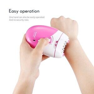 Image 3 - Kemei 제모기 충전식 2 속도 제모 기계 전기 레이디 면도기 비키니 바디 얼굴 겨드랑이 라이트 40D