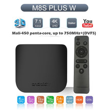 Android TV Box Amlogic S905W Android TV BOX Quad Core 2.4G & 5G Dual WiFi Android 7.1 Smart media Player Mecool M8S PLUS X(China)