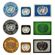 U.N. Patchs de broderie Velcro en Pvc, Badge tactique de l'armée Airsoft, crochet, Brassard militaire, emblème de l'armée de Combat